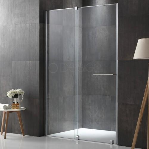 Paroi fixe avec porte coulissante aribo - Paroi de douche avec porte coulissante ...