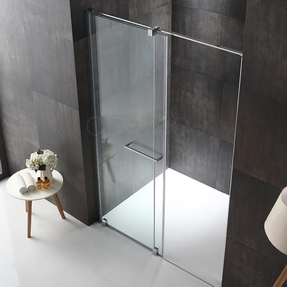 Paroi fixe avec porte coulissante aribo - Porte de douche avec paroi fixe ...
