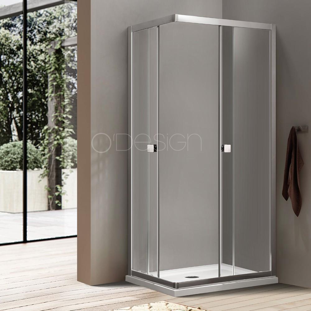 Acc s d angle avec portes coulissantes bellagio - Porte coulissante d angle ...
