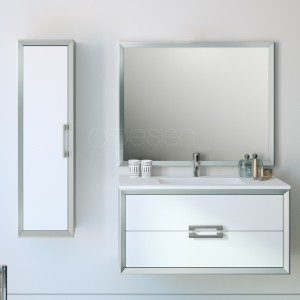 AMANDE800 blanc craie M10 / gris argent M44