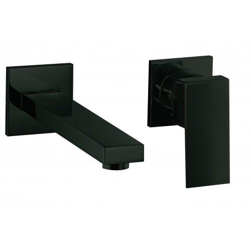 Mitigeur lavabo encastré 2 trous Daly D101NM Noir mat