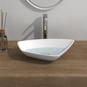 Vasque à poser CRÉA blanc mat / VAS-CREA-B