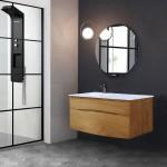 DANAÉ 1200 vasque excentrée à droite miroir DACHA900