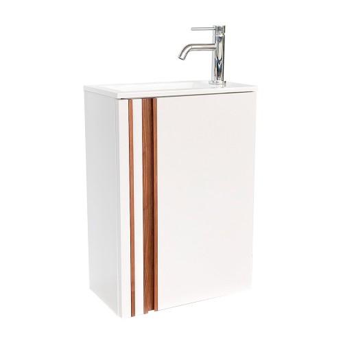 Meuble lave-mains ELYA blanc craie