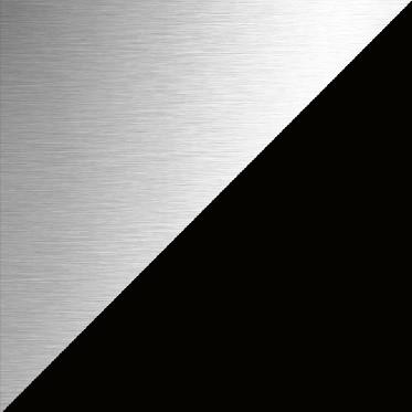 Chromé / noir